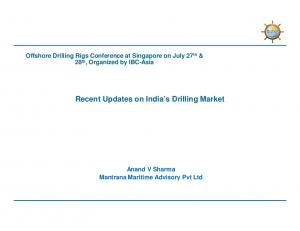 Recent Updates on India s Drilling Market