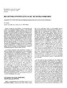 RECEPTORES POSTSINAPTICOS DE NEUROTRANSMISORES