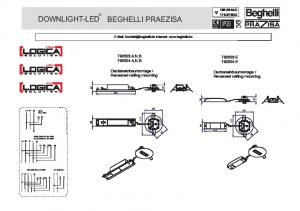 Recessed ceiling mounting