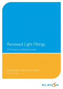 Recessed Light Fittings