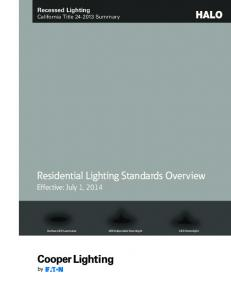 Recessed Lighting California Title Summary. Residential Lighting Standards Overview
