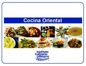 Recetario de Cocina Oriental