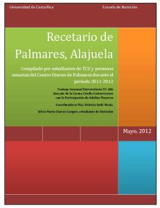 Recetario de Palmares, Alajuela