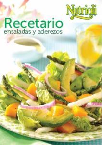 Recetario. ensaladas y aderezos