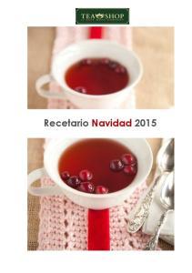 Recetario Navidad 2015