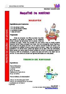 RECETAS DE NAVIDAD PROYECTO DE CENTRO: LA NAVIDAD