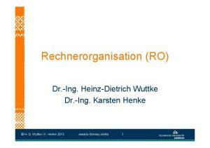 Rechnerorganisation (RO)
