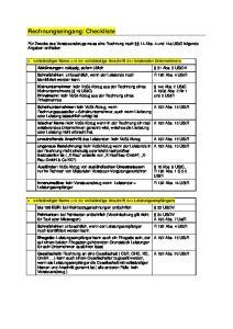 Rechnungseingang: Checkliste