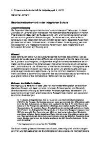 Rechtschreibunterricht in der integrierten Schule
