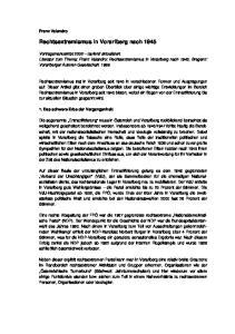 Rechtsextremismus in Vorarlberg nach 1945