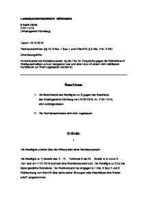 Rechtsvorschriften: 19, 8 Abs. 1 Satz 1 und 2 BetrVG, 3 Abs. 2 Nr. 3 WO
