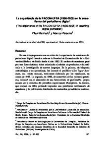 Recibido el 4 de abril de 2005, aprobado el 15 de noviembre de 2005