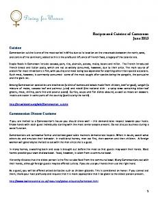 Recipes and Cuisine of Cameroon June 2013