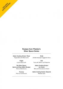 Recipes from Phaidon s Silver Spoon Series
