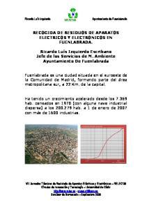 RECOGIDA DE RESIDUOS DE APARATOS ELECTRICOS Y ELECTRONICOS EN FUENLABRADA