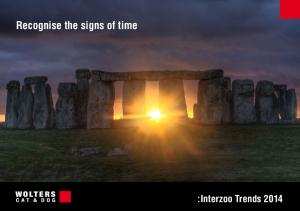 Recognise the signs of time