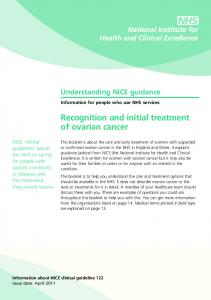 Recognition and initial treatment of ovarian cancer