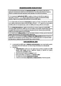 RECOMENDACIONES DE SELECTIVIDAD