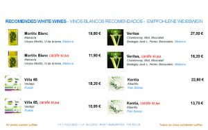 RECOMENDED WHITE WINES - VINOS BLANCOS RECOMENDADOS - EMPFOHLENE WEISSWEIN