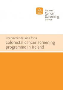 Recommendations for a colorectal cancer screening programme in Ireland