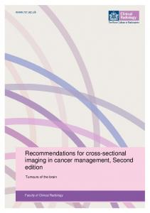 Recommendations for cross-sectional imaging in cancer management, Second edition