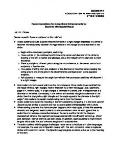 Recommendations for Instructional Enhancements for Students with Special Needs