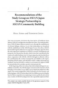 Recommendations of the Study Group on ASEAN-Japan Strategic Partnership in ASEAN Community Building