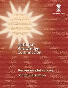 Recommendations on School Education. Government of India