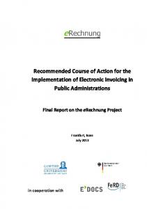 Recommended Course of Action for the Implementation of Electronic Invoicing in Public Administrations
