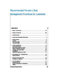 Recommended Forestry Best Management Practices for Louisiana