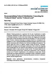 Reconceptualizing Cultural Globalization: Connecting the Cultural Global and the Cultural Local