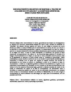 RECONOCIMIENTO HOLISTICO DE ROSTROS A TRAVES DE ANALISIS MULTIVARIADO Y ALGORITMOS GENETICOS: RESULTADOS PRELIMINARES