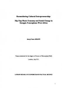Reconsidering Cultural Entrepreneurship: