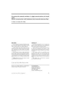 Reconstrucción mamaria mediante el colgajo musculocutáneo del dorsal ancho Breast reconstruction with latissimus dorsi musculocutaneous flap