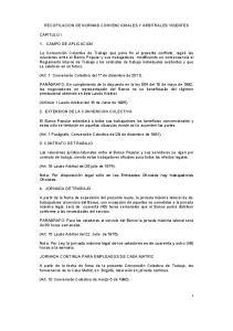 RECOPILACION DE NORMAS CONVENCIONALES Y ARBITRALES VIGENTES