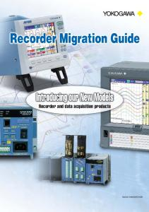 Recorder and data acquisition products