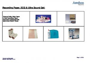 Recording Paper, ECG & Ultra Sound Gel: