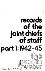 records of the joint chiefs of staff part 1: