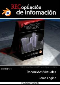Recorridos Virtuales y Game Engine - Blender
