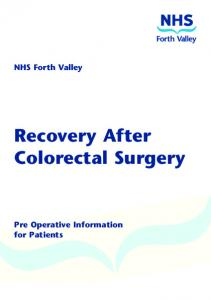 Recovery After Colorectal Surgery