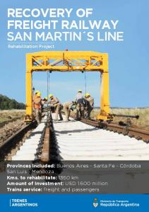 RECOVERY OF FREIGHT RAILWAY SAN MARTIN S LINE Rehabilitation Project