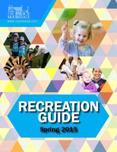 RECREATION GUIDE Spring spring recreation guide  1
