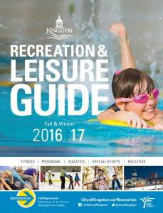 RECREATION & LEISURE GUIDE