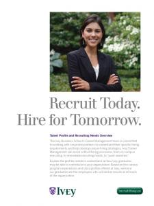 Recruit Today. Hire for Tomorrow