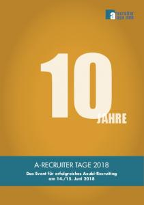 recruiter atage JAHRE A-RECRUITER TAGE 2018
