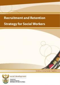 Recruitment and Retention Strategy for Social Workers