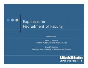 Recruitment of Faculty