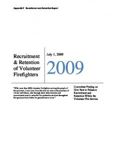 Recruitment & Retention of Volunteer Firefighters