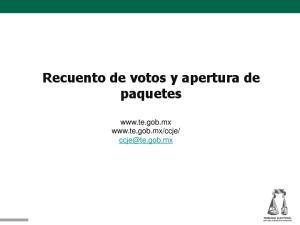 Recuento de votos y apertura de paquetes