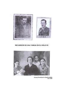 RECUERDOS DE UNA FAMILIA EN EL SIGLO XX